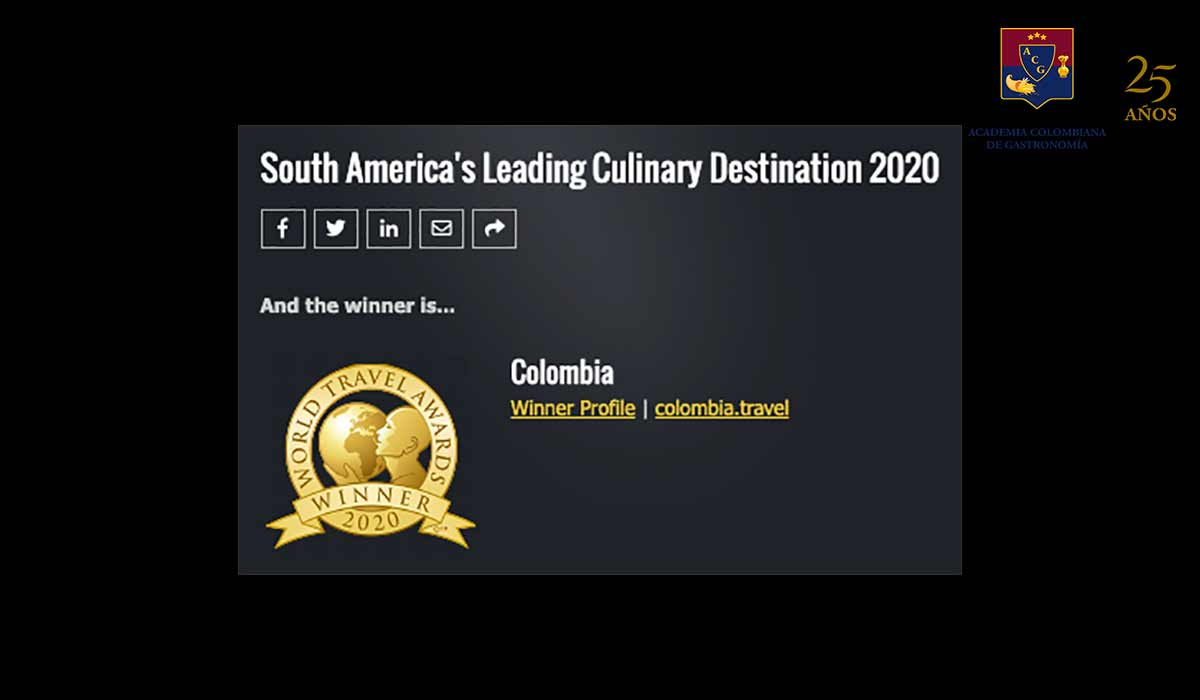 Colombia mejor destino gastronómico del sur amenrica
