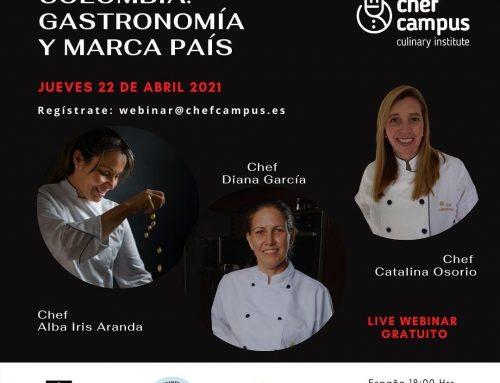 Hoy 22 de abril Webinar  Colombia: gastronomía y marca país